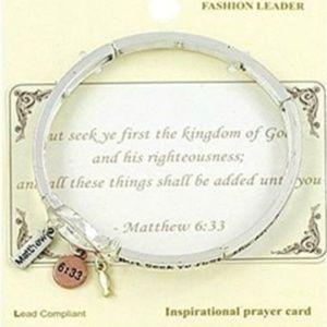 New Bible Scripture Bracelet Matthew 6:33 Seek